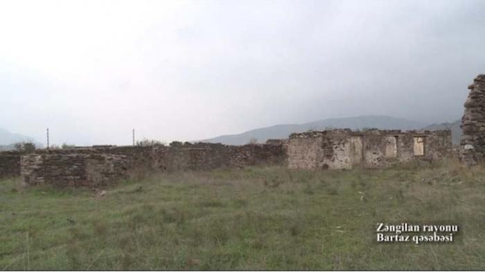 Video footage  of liberated Bartaz settlement of Zangilan