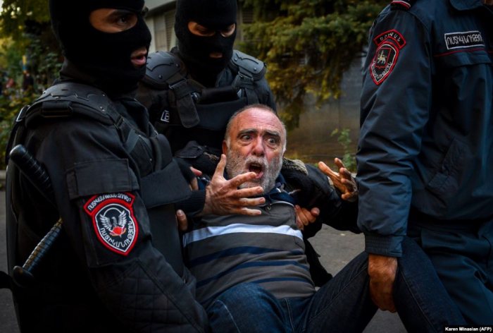 Protesters arrested as Nagorno-Karabakh peace deal sparks protests In Armenia