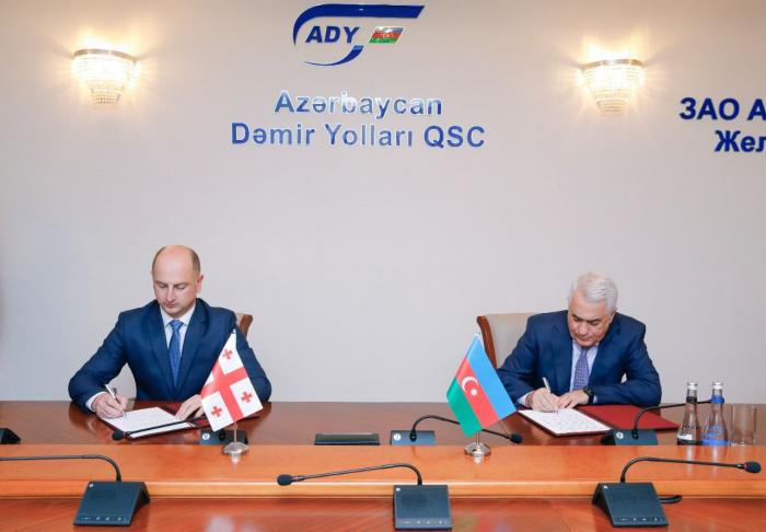 Azerbaijan, Georgia sign document on cooperation in railway sector