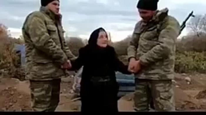 Ağdamlı Səmayə nənə 27 il sonra doğma torpağında -   VİDEO