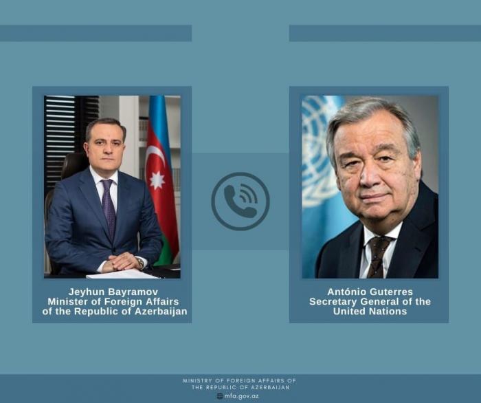 Azerbaijani FM had a telephone conversation with UN Secretary General