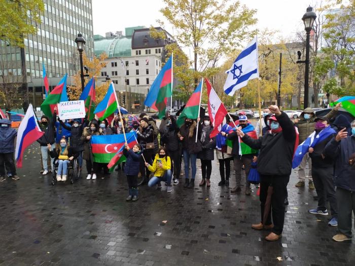 Azerbaijanisstageprotestin Montreal to condemn Armenian attacks