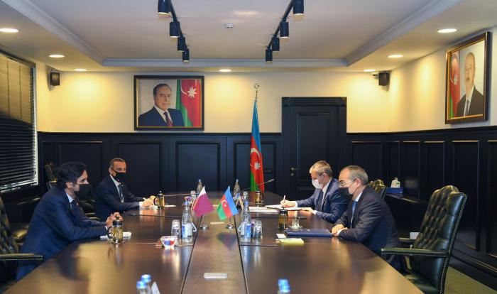 Azerbaijani Minister of Economy receives Qatari ambassador