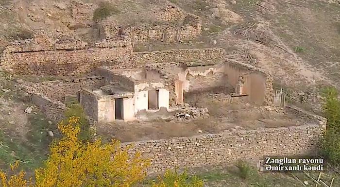 Zəngilanın Əmirxanlı kəndinin görüntüləri -