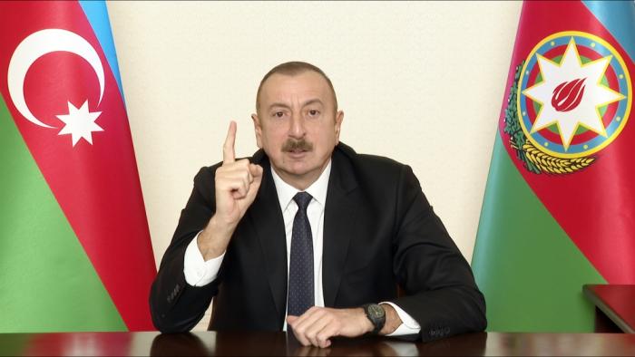 """""""Düşmənin başını əzməsəydik, öz xoşu ilə torpaqlardan çıxmazdı"""" -  Prezident"""
