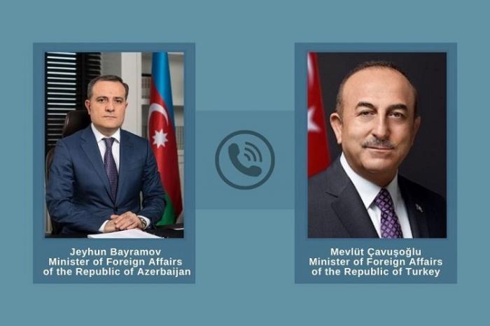 Ceyhun Bayramov Çavuşoğlu ilə Laçını müzakirə edib -  YENİLƏNİB