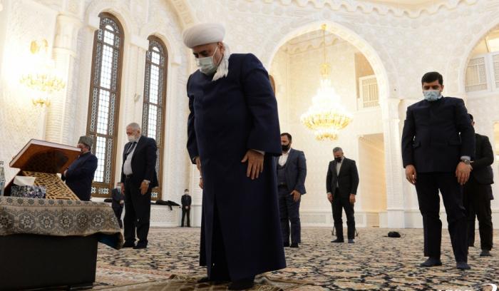 Unity prayer performed at Heydar Mosque to commemorate Patriotic War martyrs