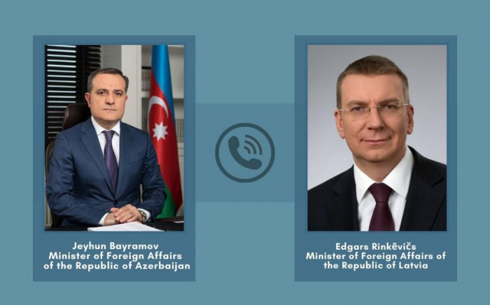 Azerbaijani, Latvian FMs hold phone conversation
