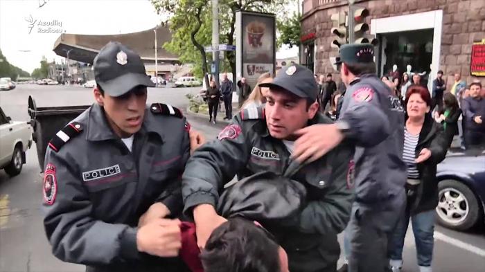 سوف يسلم باشينيان الأموال إلى الشرطة التي فرقت الاحتجاجات