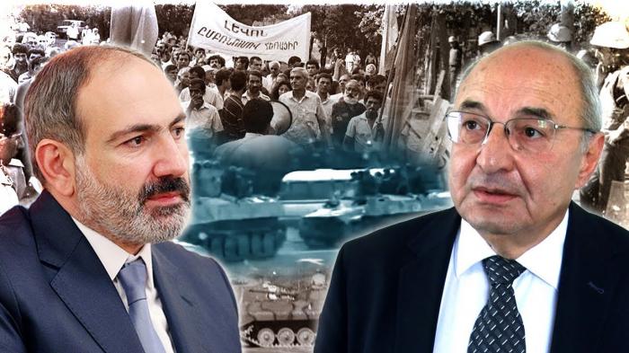 Ermənistanda müxalifət liderinə qarşı təxribat -  VİDEO