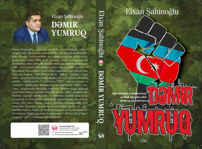 """""""Dəmir Yumruq"""" kitabı çapdan çıxdı"""