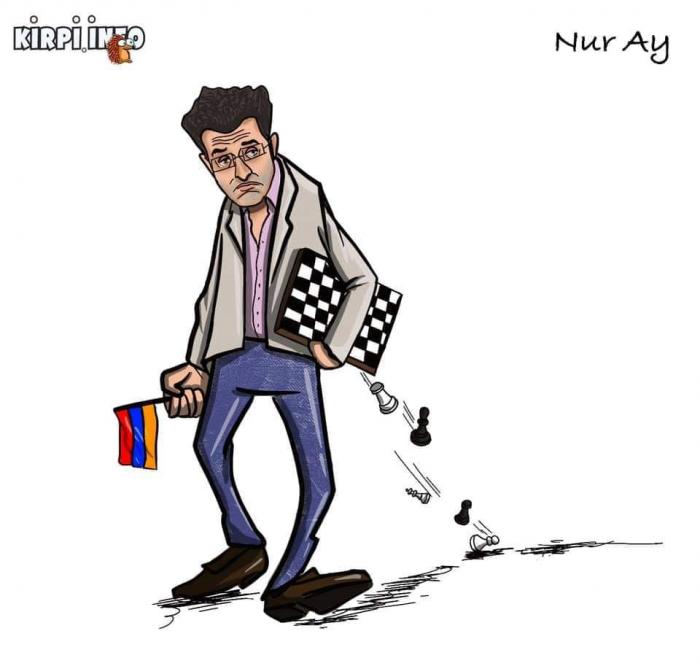 Airthings Masters:TeïmourRadjabov bat son adversaire arménien Levon Aronian -   Dessin de presse