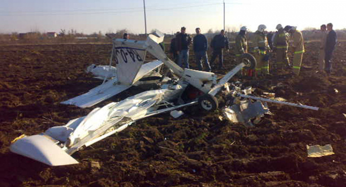 Plane crash near Russia