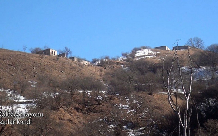 Video footage  of Shaplar village of Kalbajar region