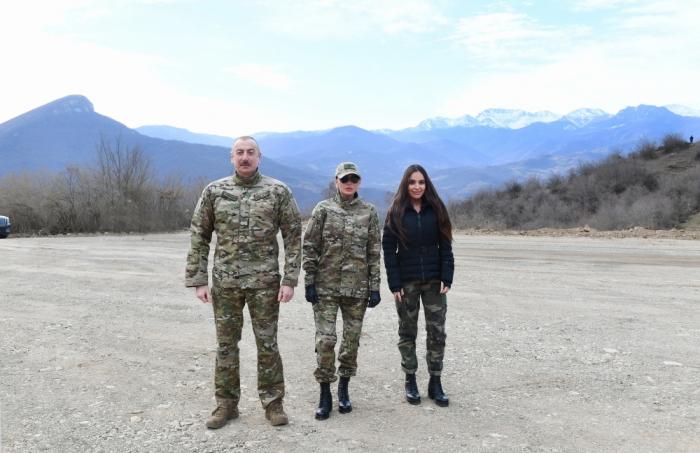 Prezidentlə ailəsinin Şuşa səfərindən  VİDEO+FOTOLAR