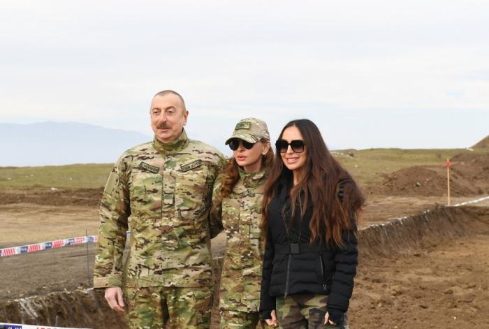 Prezident və birinci xanım Şuşaya getdi -  VİDEO