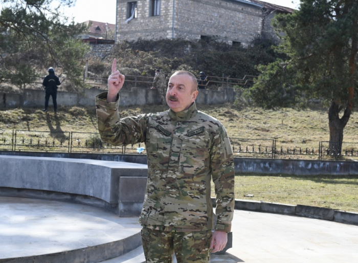 """President Aliyev: """"The road to Shusha is the road to victory"""""""