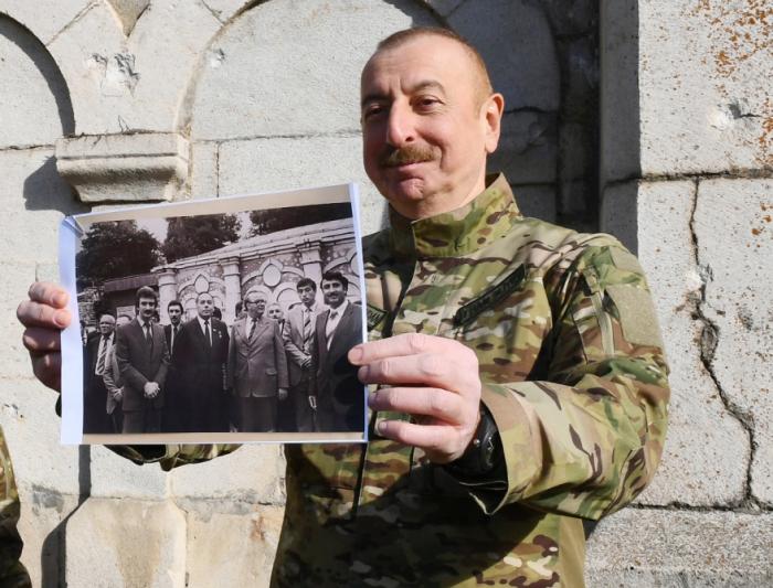 President Ilham Aliyev in Shusha: 39 years ago and today ... -  PHOTO