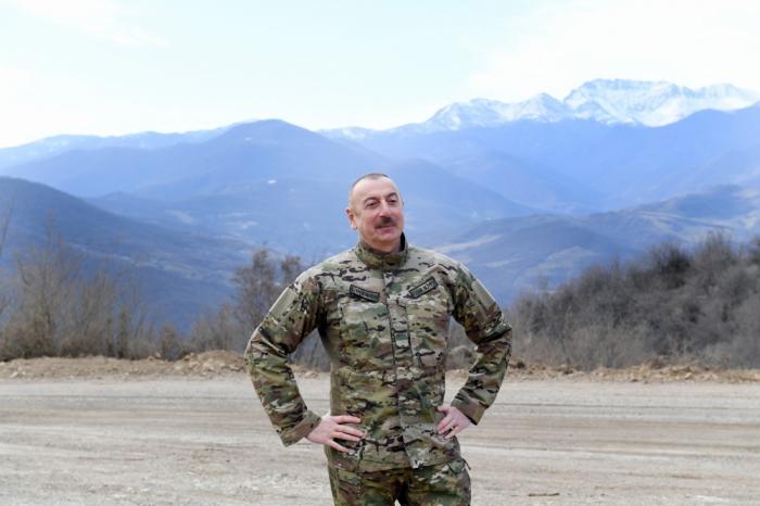 Ilham Aliyev is in Sighnag village of Khojaly -  VIDEO