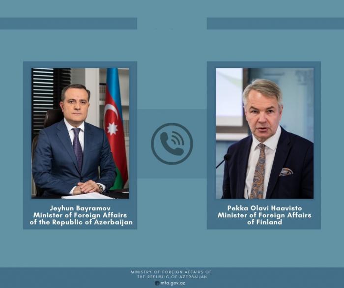 Azerbaijani, Finnish FMs hold phone conversation