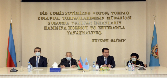 Hikmet Hajiyev attended the meeting of Organization of Veterans