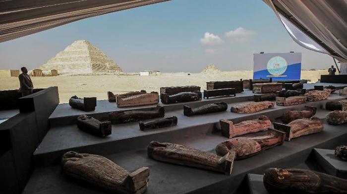 52 Sarkophage in Ägypten ausgegraben