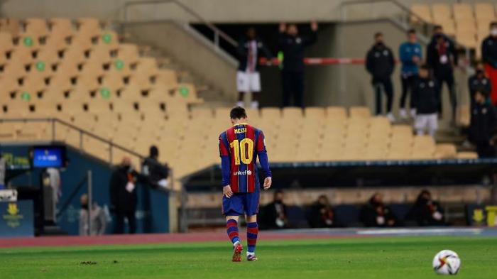 Barça verliert Supercup, Messi die Nerven