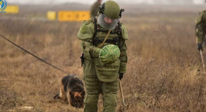 Russische Friedenstruppen setzen die Landminenräumung in Berg-Karabach fort