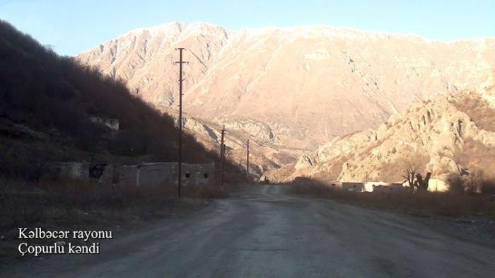 Le ministère de la Défense a diffusé une  vidéo  du village de Tchopourlou de Kelbedjer