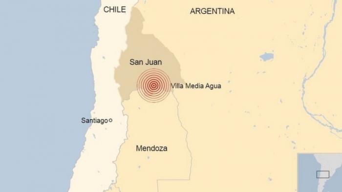 Terremoto en Argentina:   un sismo de 6,4 se registra en San Juan y se siente en varias provincias del país