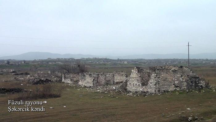 Le ministère azerbaïdjanais de la Défense diffuse une  vidéo du village deChékerdjik