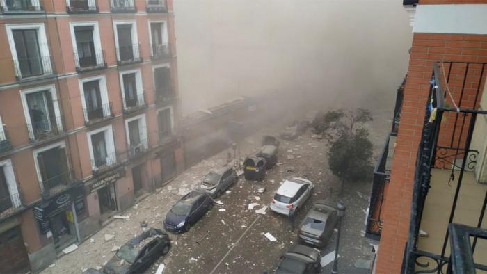 Madriddə güclü partlayış : Ölənlər və yaralılar var -  (YENİLƏNİB)