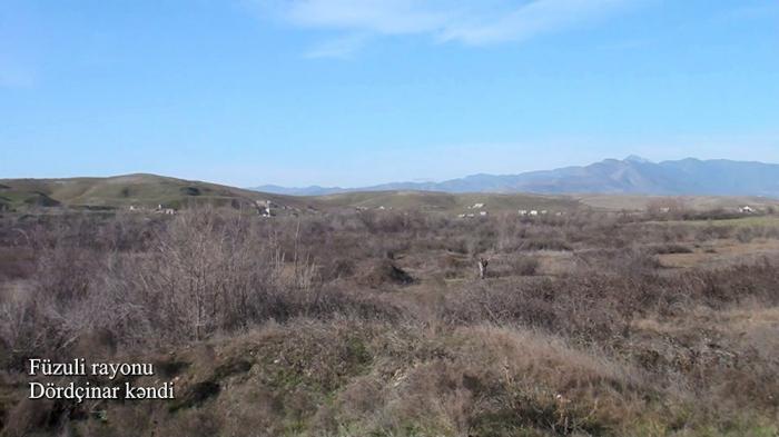 Dordchinar Dorf der Region Füzuli -   VIDEO