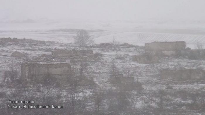 Le ministère de la Défense diffuse une   vidéo   du village de Youkhari Abdurrahmanly de Fuzouli