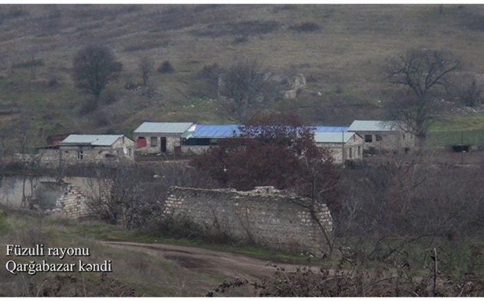 Garghabazar village of Azerbaijan's Fuzuli district -   VIDEO