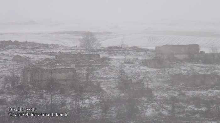 Azerbaijan shares   video footage   from another village of Fuzuli
