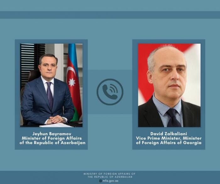 Außenminister Aserbaidschans und Georgiens tauschten sich über die jüngste Situation in der Region aus
