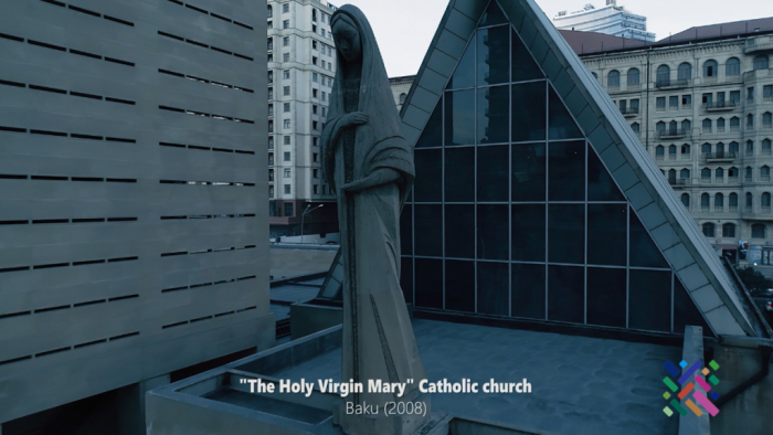 Azerbaijan releases videoclip of Holy Virgin Mary Catholic Church