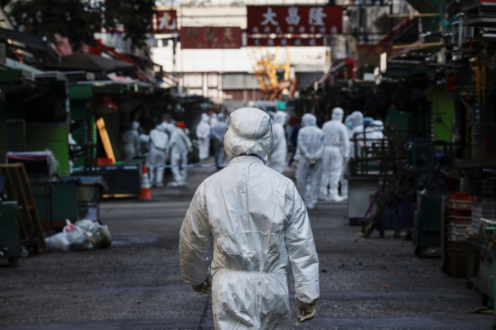 Hong Kong declares first COVID-19 lockdown amid spike in cases