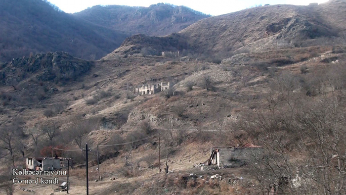 Azerbaijan shares   video footage   from another village of Kalbajar