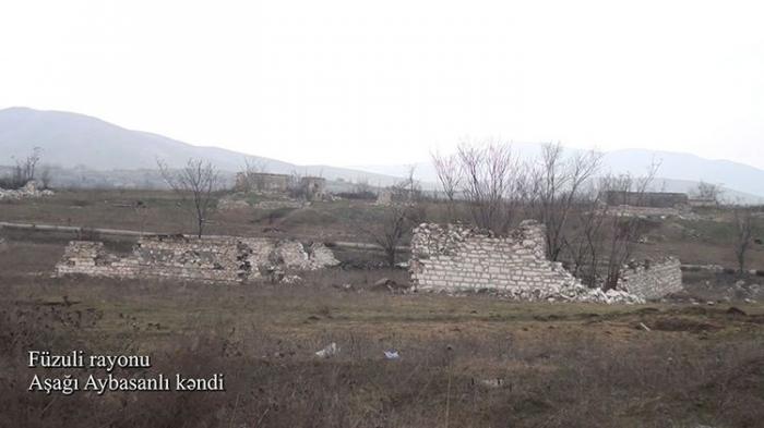 El Ministerio de Defensa presenta imágenes de la aldea Ashagi Aybasanli de Fuzuli