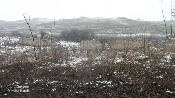 Aserbaidschanisches Verteidigungsministerium teilt ein Video aus dem Distrikt Füzuli