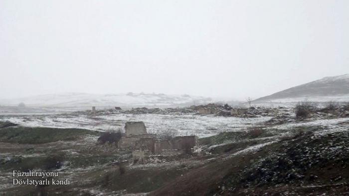 Video   footage from Dovletyarli village of Fuzuli district