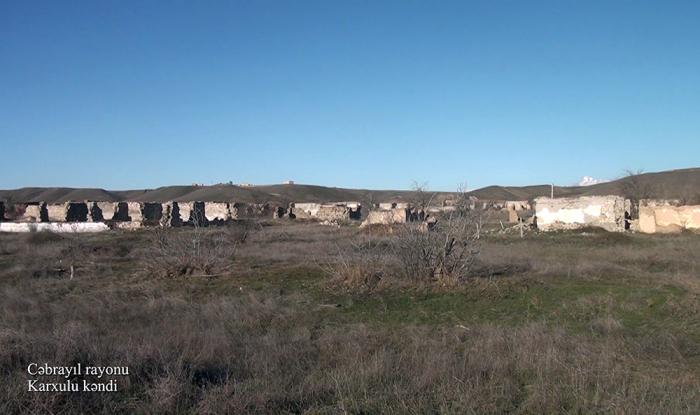 El Ministerio de Defensa emite imágenes de la aldea de Karkhulu de Jabrayil - VIDEO