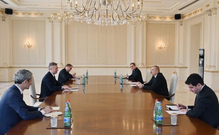 Le président azerbaïdjanais a reçu Jean-Baptiste Lemoyne