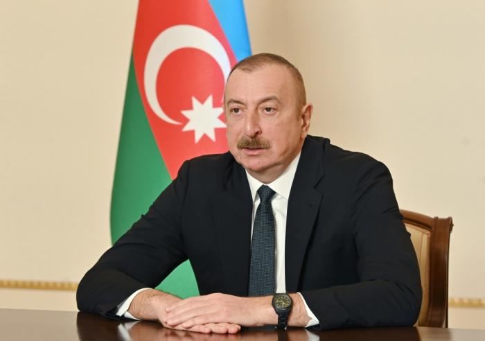 """El mandatario azerbaiyano:  """"La guerra ha demostrado el potencial de Azerbaiyán"""""""