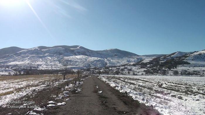 El Ministerio de Defensa publica video de la aldea de Demirchiler de la región de Gubadli