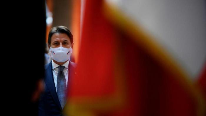 Le chef du gouvernement italien Giuseppe Conte adémissionné
