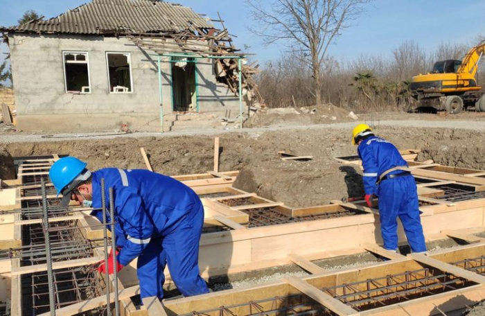Azerbaijan starts reconstruction of houses damaged by Armenia's military aggression