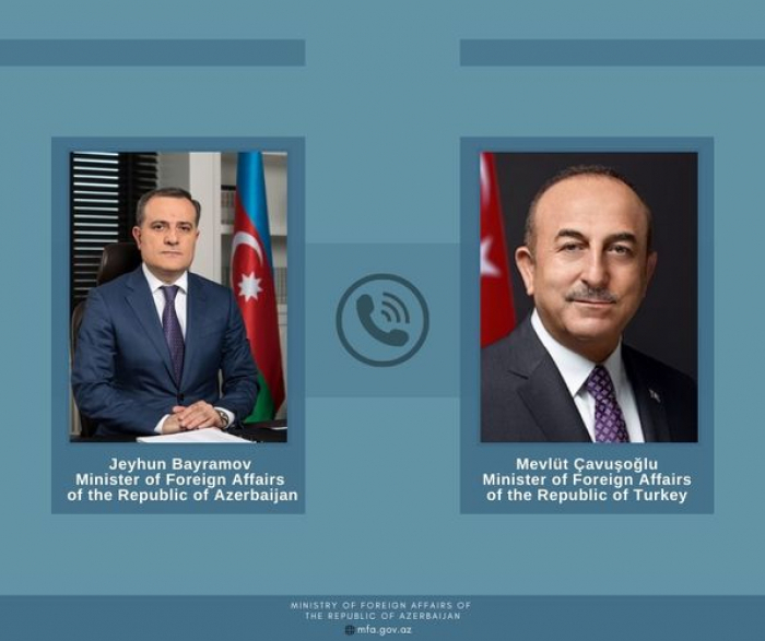 Azerbaijan, Turkish FMs hold phone talk
